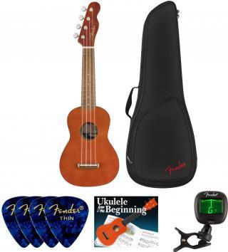 Fender Venice Soprano Ukulele WN Natural SET Soprano Ukulele
