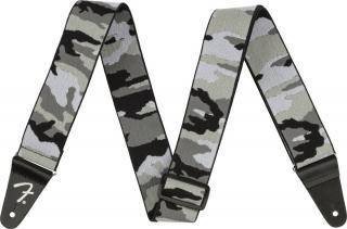 Fender WeighLess 2 Gray Camo Strap Grey