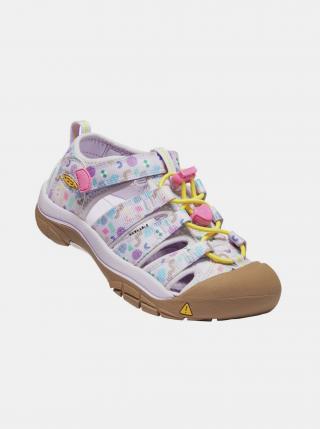 Fialové holčičí vzorované sandály Keen světle fialová 34