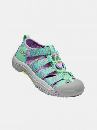 Fialovo-zelené holčičí vzorované sandály Keen zelená 24