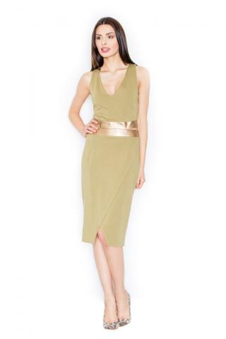 Figl Womans Dress M439 Olive dámské Green S