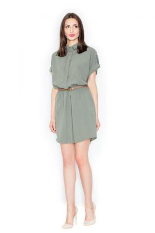 Figl Womans Dress M442 Olive dámské Green L