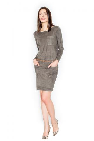 Figl Womans Dress M452 Olive dámské Green L