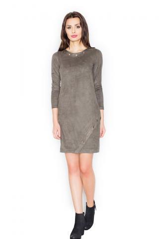 Figl Womans Dress M455 Olive dámské Green S