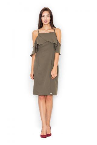 Figl Womans Dress M478 Olive dámské Green S