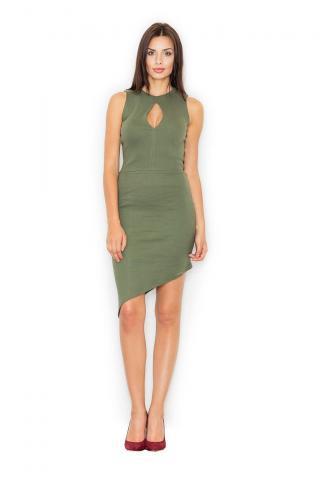Figl Womans Dress M486 Olive dámské Green S