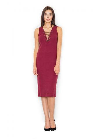 Figl Womans Dress M487 Deep dámské Red S