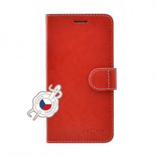 FIXED FIT flipové pouzdro pro Apple iPhone XS, červené
