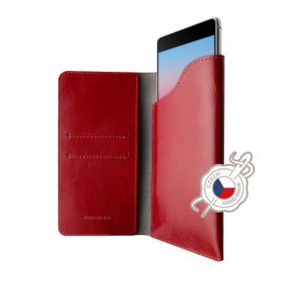 FIXED Pocket Book Kožené pouzdro pro Apple iPhone X/XS, červené