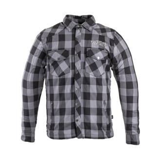 Flanelová Košile S Aramidem W-Tec Black Heart Reginald  Šedo-Černá S