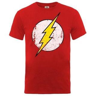 Flash - Distressed Logo - tričko M
