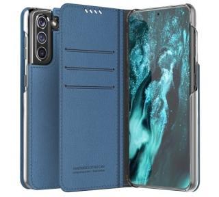 Flipové pouzdro ARAREE Mustang pro Samsung Galaxy S21, ash blue