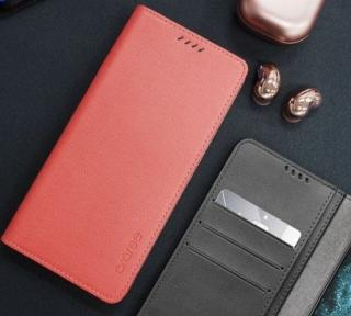 Flipové pouzdro ARAREE Mustang pro Samsung Galaxy S21 Ultra, tangerin red