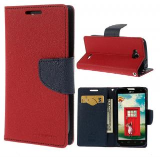 Flipové pouzdro Fancy Diary pro Huawei Y6p, červená-modrá