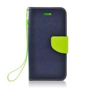 Flipové pouzdro Fancy Diary pro Samsung Galaxy A41, modrá - limetková