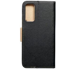 Flipové pouzdro Fancy pro Samsung Galaxy A42 5G, černá - zlatá