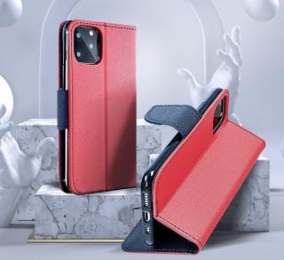 Flipové pouzdro Fancy pro Samsung Galaxy A72, červená - modrá