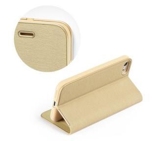 Flipové pouzdro Forcell Luna Book pro Apple iPhone XR, gold