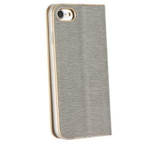 Flipové pouzdro Forcell Luna Book pro Apple iPhone XR, silver