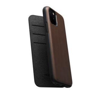 Flipové pouzdro Nomad Folio Leather case pro Apple iPhone 11 Pro, hnědá