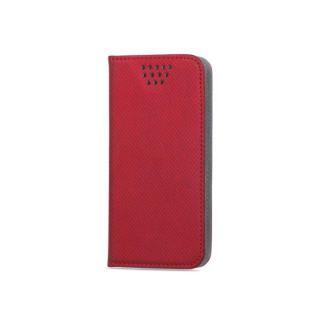 Flipové pouzdro Smart Magnet typ B univerzální 4,7-5,3, červené