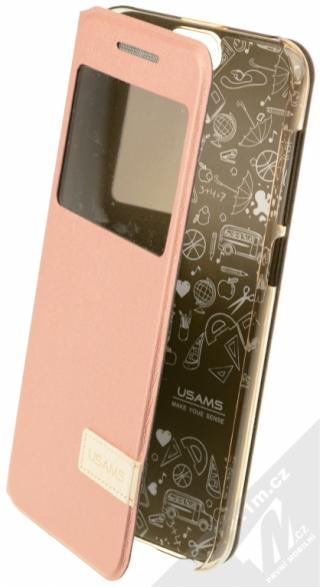 Flipové pouzdro USAMS pro HTC One A9, rose gold