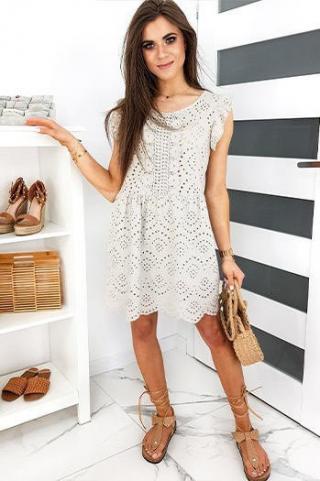 FLORENCE beige dress EY1291 dámské Neurčeno One size