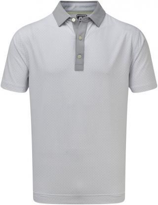 Footjoy Lisle Foulard Print Mens Polo Shirt Grey/White XL pánské XL