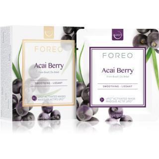 FOREO Farm to Face Acai Berry vyhlazující maska 6 x 6 g dámské 6 x 6 g