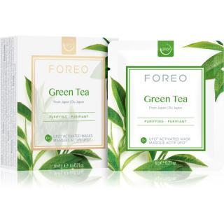 FOREO Farm to Face Green Tea osvěžující a zklidňující maska 6 x 6 g dámské 6 x 6 g