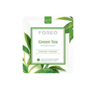 FOREO Osvěžující a zklidňující pleťová maska Green Tea  6 x 6 g dámské