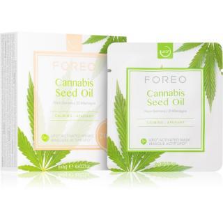 FOREO UFO™ Cannabis Seed Oil zklidňující maska s konopným olejem 6 x 6 g dámské 6 x 6 g