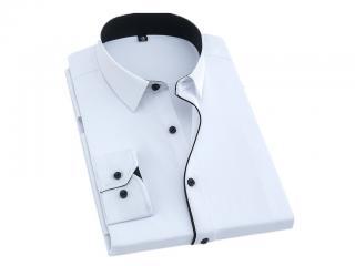 Formální pánská košile - 8 barev Barva: bílá, Velikost: XXS