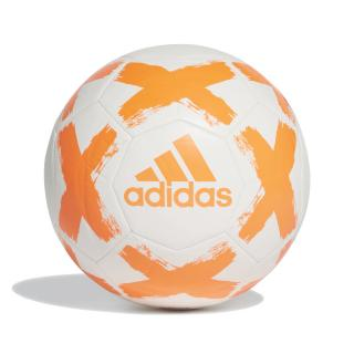 Fotbalový Míč Adidas Starlancer Fl7036 Bílý, Oranžové Logo