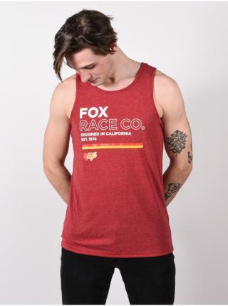 Fox Analog chilli pánská tílko - červená pánské M