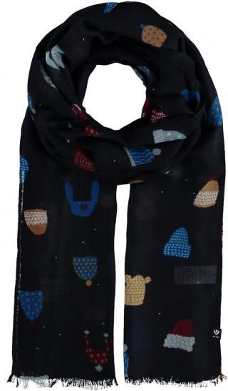 Fraas Dámská obdélníková šála 602042 - tmavě modrý tmavě modrá