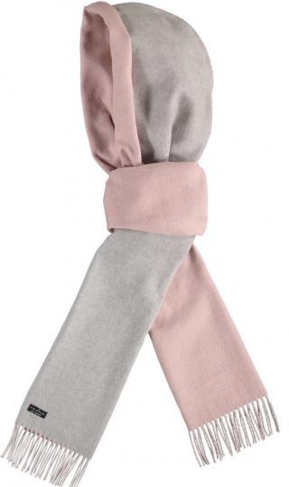 Fraas Dámská šála s kapucí 641003 - růžovo-šedá světle růžová