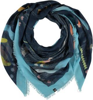 Fraas Dámský čtvercový šátek 640043 - modrá