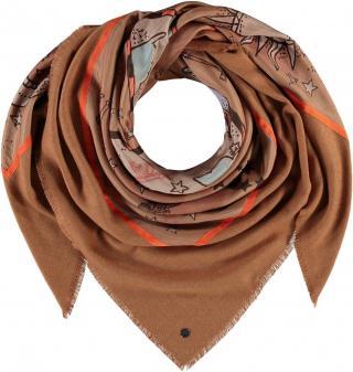 Fraas Dámský čtvercový šátek Mistery of Love 623345 - camel hnědá
