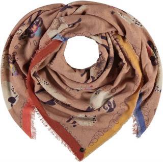 Fraas Dámský čtvercový šátek s příměsí vlny 638050 - camel hnědá