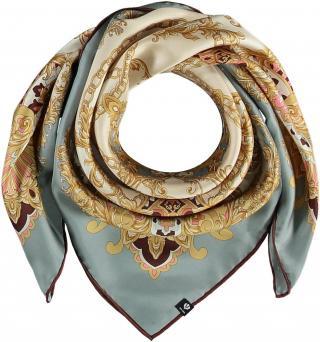 Fraas Dámský hedvábný čtvercový šátek 632014 - modrá