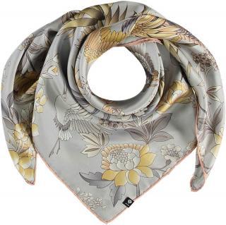 Fraas Dámský hedvábný čtvercový šátek 632015 - stříbrná