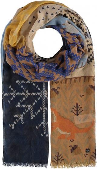 Fraas Dámský obdélníkový šátek 640041 - tmavě modrá