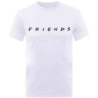Friends - Logo - tričko bílé XL