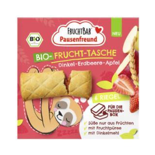 FRUCHTBAR®Pausenfreunde Sáček na ovoce v bio kvalitě Špaldové jahody-jablka 6 x 22 g od 3. roku věku dítěte