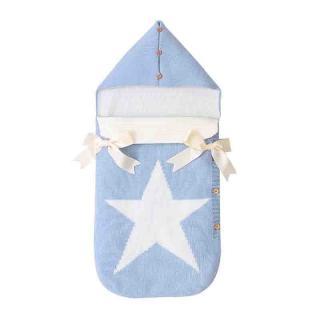 Fusak s hvězdou Barva: světle modrá, Velikost: 3-6 měsíců