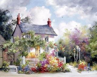 Gaira House With a Garden M1133 40 x 50 cm