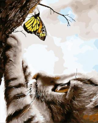 Gaira Kitten with Butterfly M992684 40 x 50 cm