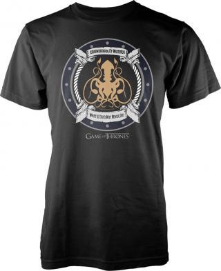 Game Of Thrones Iron Born T-Shirt S pánské Black S