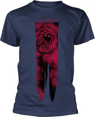 Game Of Thrones Targaryen Flag Fire & Blood T-Shirt L pánské Violet L
